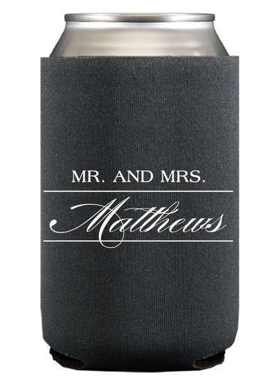 Mr. and Mrs. Collapsible Koozies