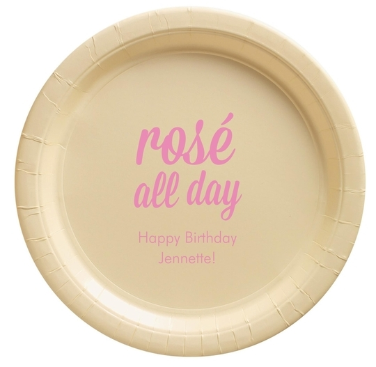 Rosé All Day Paper Plates