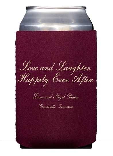 Love and Laughter Collapsible Koozies