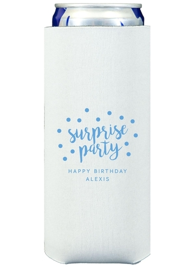 Surprise Party Confetti Dot Collapsible Slim Koozies
