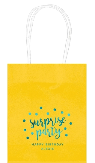 Surprise Party Confetti Dot Mini Twisted Handled Bags