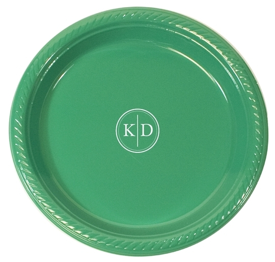 Petite Dotted Circle Duogram Plastic Plates