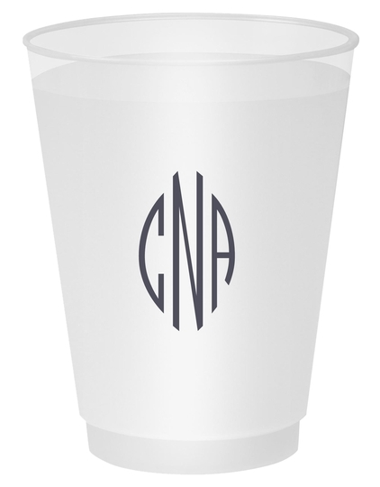 Shaped Oval Monogram Shatterproof Cups