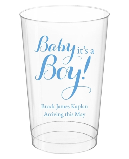 Baby It's A Boy Clear Plastic Cups