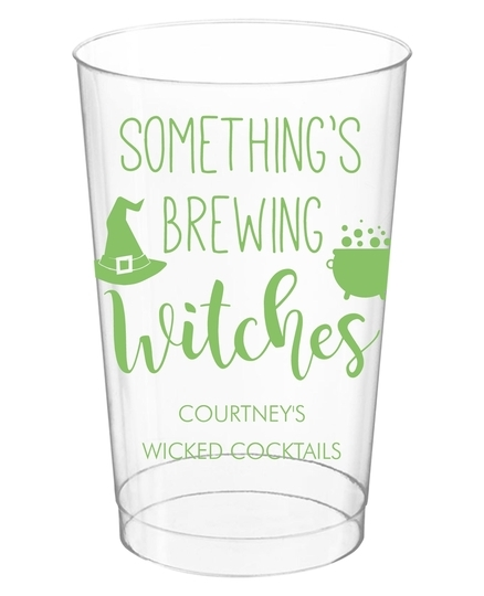 Something's Brewing Witches Clear Plastic Cups