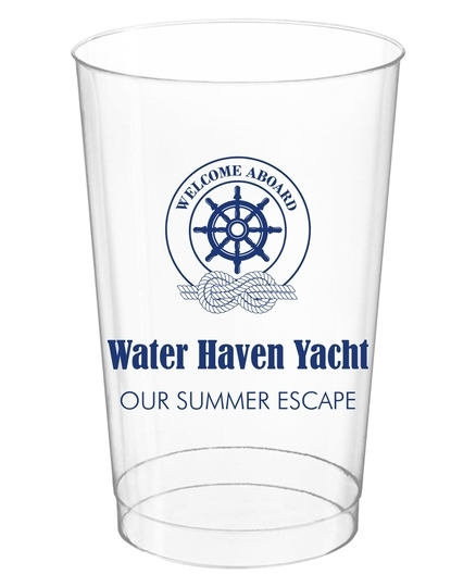 Welcome Aboard Wheel Clear Plastic Cups