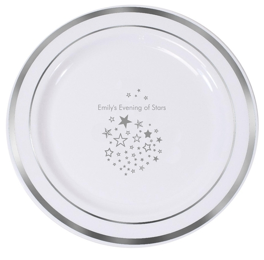 Star Party Premium Banded Plastic Plates