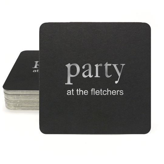 Big Word Party Square Coasters