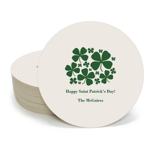 Clovers Round Coasters