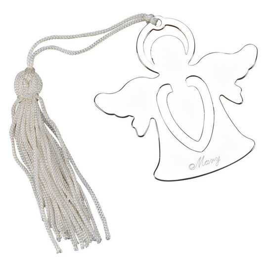 Personalized Angel Shaped Bookmark Ornament