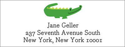 Alligator Return Address Labels
